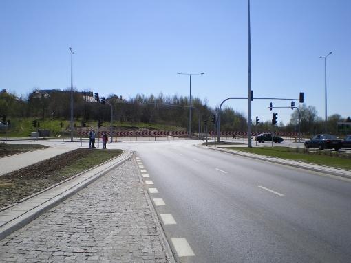 Skrzyżowanie alei Sikorskiego i ulicy Wilczyńskiego