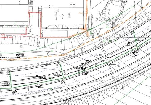 Fragment planu sieci oświetleniowej
