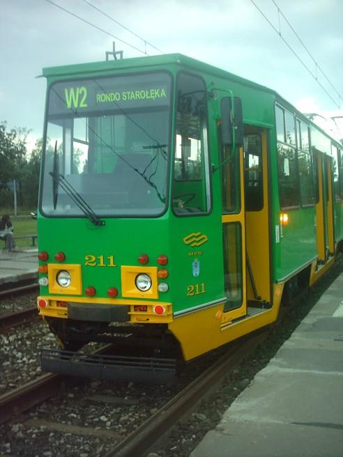 Dwukierunkowy tramwaj wahadłowy Konstal 105NaDK z Poznania