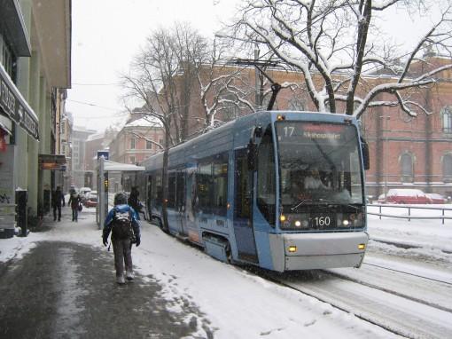 Przystanek Tullinløkka na Kristian Augusts gate w Oslo