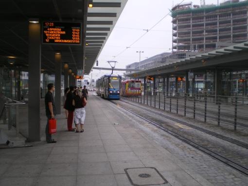 Przystanek tramwajowo-autobusowy na rondzie Reagana we Wrocławiu