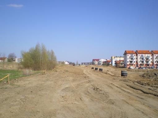 Budowa ulicy Witosa w pobliżu ulicy Mroza