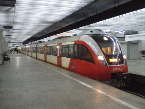 SKM Warszawa - linia S-2 na stacji Warszawa Śródmieście