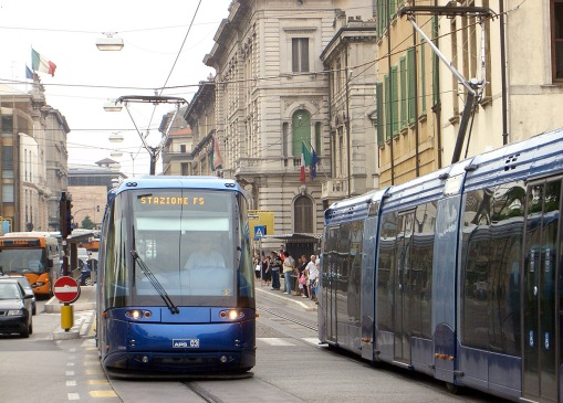 Translohr na Corso Garibaldi w Padwie