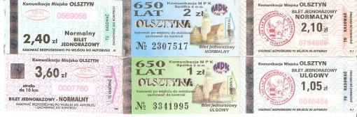 Bilety MPK Olsztyn