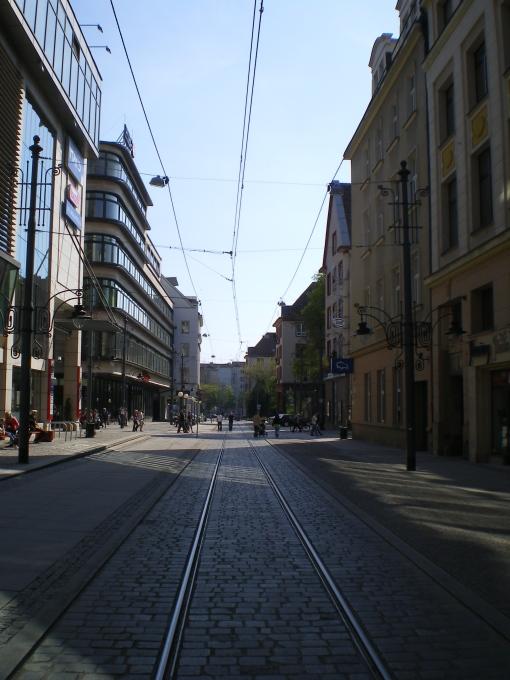 Torowisko w ulicy Szewskiej we Wrocławiu