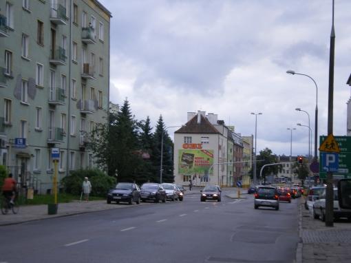 Kościuszki przy skrzyżowaniu z Piłsudskiego