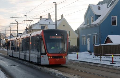 Tramwaj na Inndalsveien w Bergen