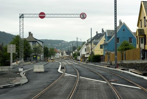 Budowa linii tramwajowej na Inndalsveien w Bergen