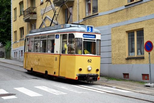Tramwaj muzealny na Wolffs gate w Bergen