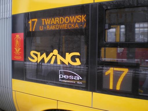 Wyświetlacze boczne Pesy Swing