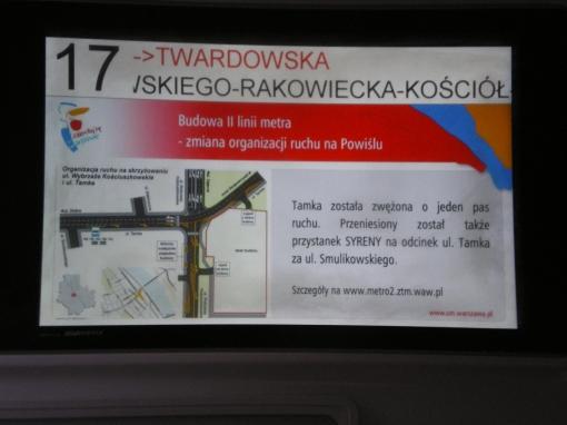 Elektroniczna tablica informacyjna w Pesie Swing