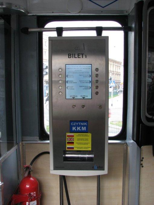 Biletomat w krakowskim tramwaju