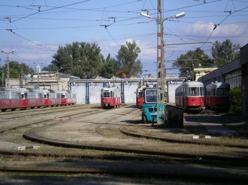 Tory odstawcze w zajezdni przy Szondi György utca w Miszkolcu