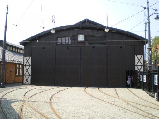 Hala historycznej zajezdni tramwajowej w Krakowie przy ul. św. Wawrzyńca (dziś Muzeum Inżynierii Miejskiej)