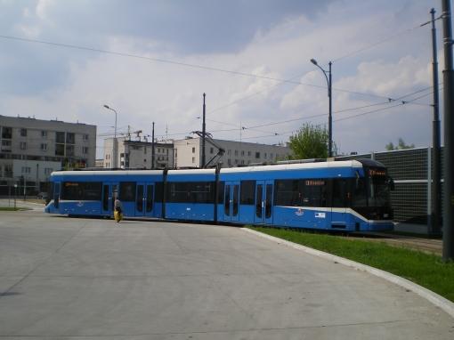 Bombardier NGT6 Kraków III na pętli Mały Płaszów