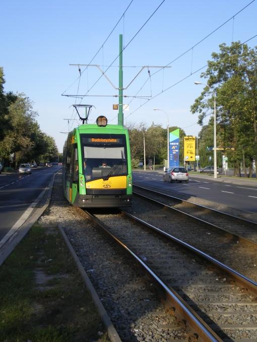 Solaris Tramino S105P na Grunwaldzkiej w Poznaniu