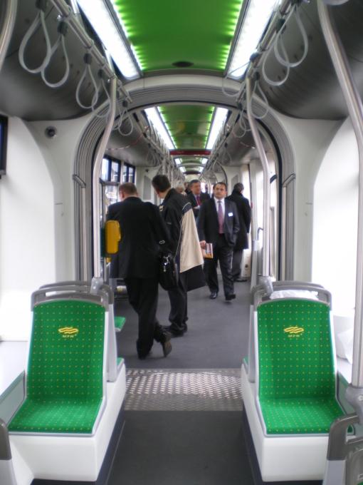 Wnętrze Solarisa Tramino dla poznańskiego MPK
