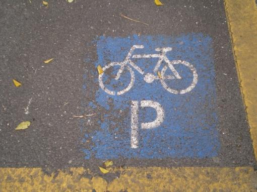 Oznakowanie miejsca parkingowego dla rowerów w Budapeszcie