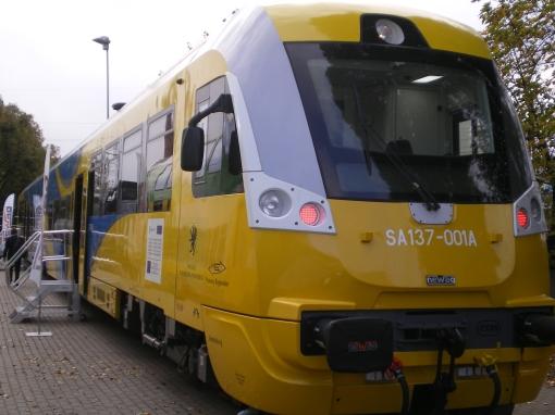 Szynobus 220M (SA137) produkowany przez Newag