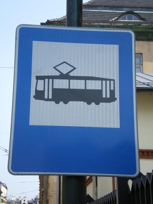 Znak przystanku tramwajowego (D-17)