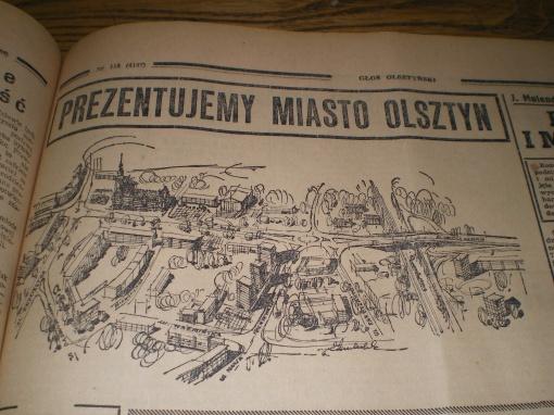 """""""Prezentujemy miasto Olsztyn"""" (""""Głos Olsztyński"""", poniedziałek 17 maja 1965 r., str. 5)"""