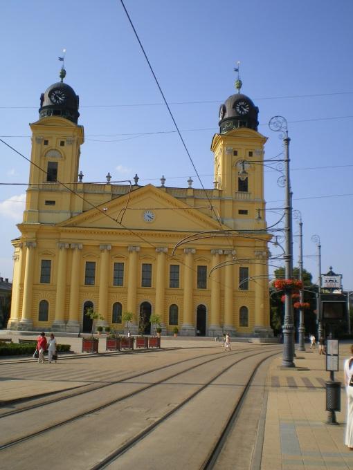 Trakcja tramwajowa na Kossuth tér w Debreczynie