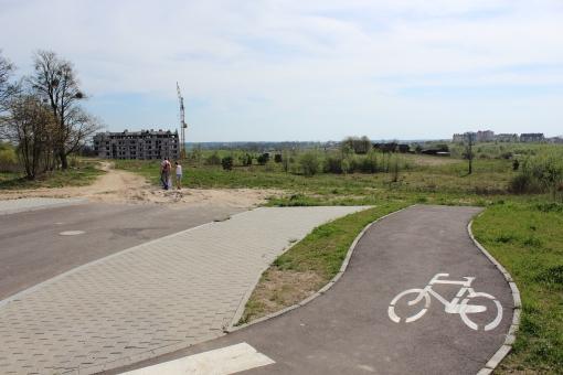 Początek projektowanej ulicy Bukowskiego w Olsztynie
