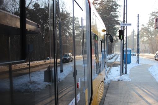 Pesa Swing na pętli Boernerowo w Warszawie