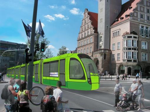 Propozycja malowania tramwajów w barwy Olsztyna (limonkowy i zielony)