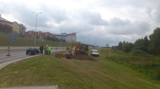 Początek budowy linii tramwajowej na ulicy Płoskiego