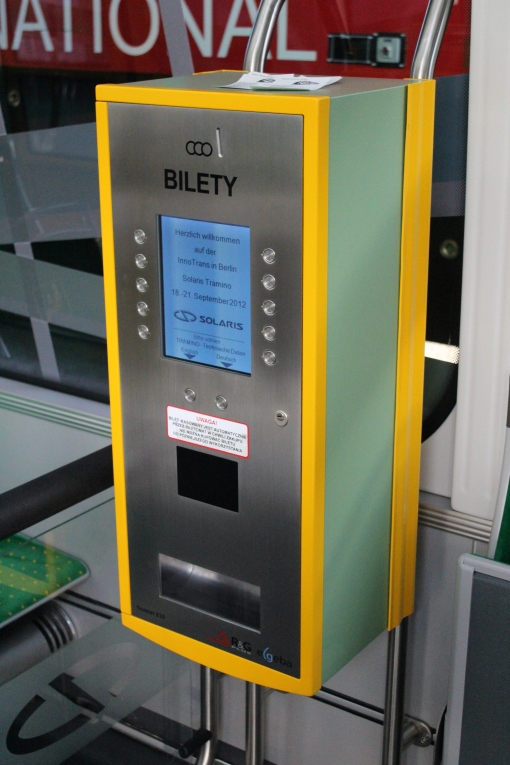 Biletomat w Solarisie Tramino S105P (Tramino Poznań)