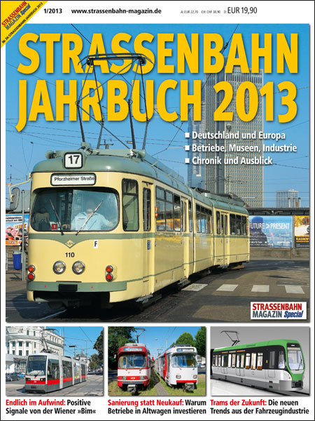 "Okładka ""Strassenbahn Jahrbuch 2013"""