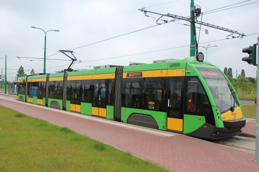 Solaris Tramino S105P (Tramino Poznań) na pętli Franowo
