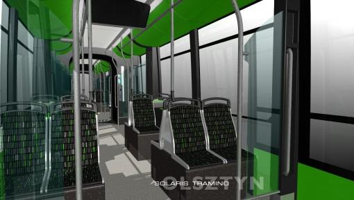 Wnętrze Solarisa Tramino Olsztyn