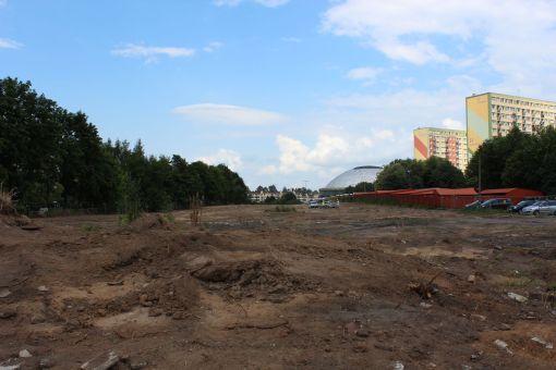 Budowa ulicy Obiegowej (24 czerwca 2013)