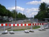 Budowa linii tramwajowej przy ulicy Towarowej (9 czerwca 2013)