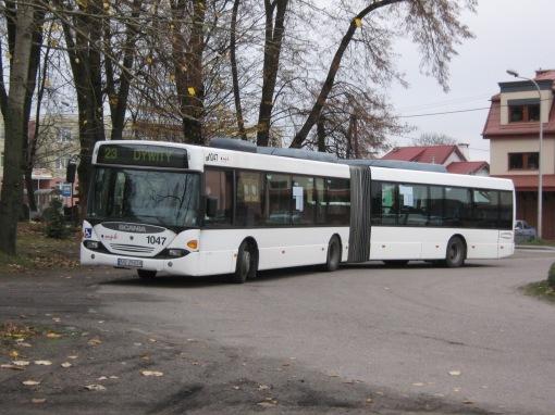 Scania N94UA OmniCity na pętli Dywity
