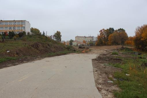 Budowa ulicy Obiegowej (13 października 2013)