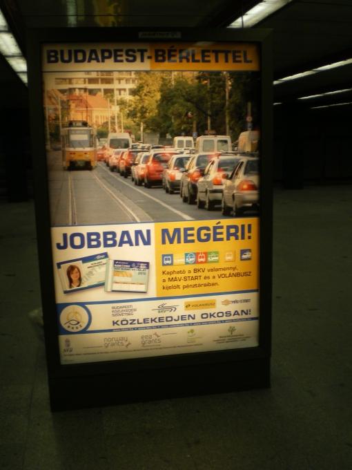 Reklama biletów sieciowych w Budapeszcie