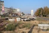 Budowa linii tramwajowej na ulicy Dworcowej (26 października 2014)