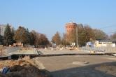 Budowa wiaduktu ulicy Żołnierskiej nad ulicą Obiegową (26 października 2014) © OlsztyńskieTramwaje.pl