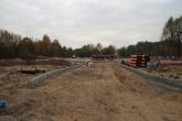Budowa zajezdni postojowej dla autobusów przy alei Sikorskiego (26 października 2014)