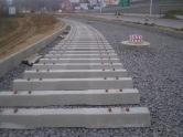 Budowa linii tramwajowej przy ulicy Płoskiego (16 listopada 2014)