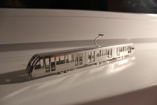 Wycięty laserowo model Solarisa Tramino Olsztyn