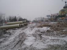 Budowa linii tramwajowej na ulicy Lubelskiej (3 grudnia 2014)