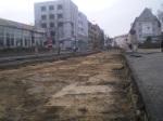 Budowa linii tramwajowej na ulicy Kościuszki (10 grudnia 2014)