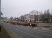 Budowa linii tramwajowej przy alei Sikorskiego (15 lutego 2015)
