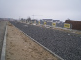 Budowa linii tramwajowej przy ulicy Płoskiego (15 lutego 2015)