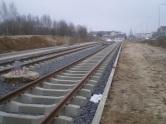 Budowa linii tramwajowej przy ulicy Witosa (15 lutego 2015)